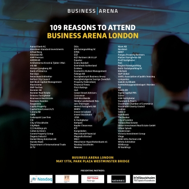 109 reasons to attend  Business Arena London
