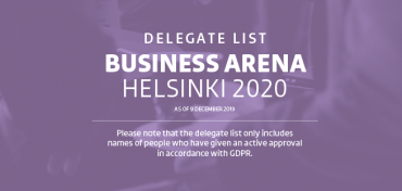 BA Helsinki: The first delegate list