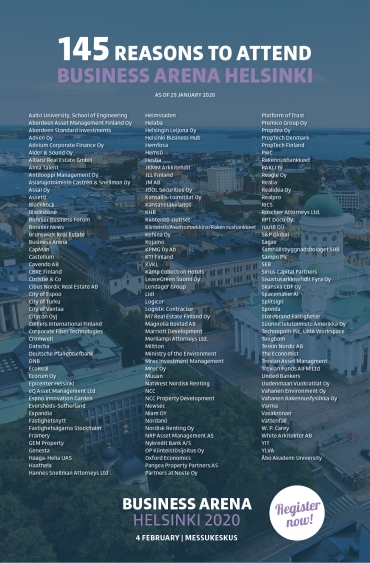 145 reasons to attend Business Arena Helsinki