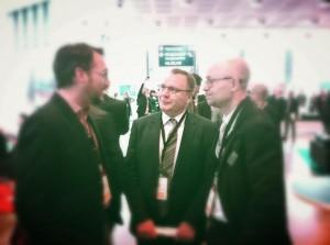 Henrik Mortensen från Akademiska hus, Greg Clark & Business Arenas grundare Johan Zetterstedt