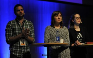 Erik Bengtzboe, Magda Rasmusson & Linda Nordlund på Business Arena Göteborg, 2014