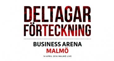 Se vilka som är på Business Arena Malmö nästa vecka