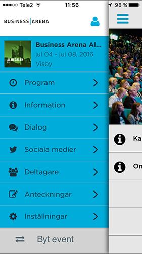 Ladda ned vår Business Arena-app i App Store och Google Play. Aktivera med kod: businessarena