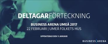 Första deltagarförteckningen för Business Arena Umeå klar