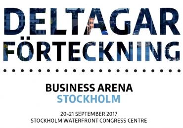Deltagarförteckningen för Business Arena Stockholm – version 1