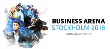 Business Arena Stockholm: den första programversionen