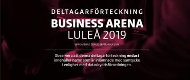 Första deltagarförteckningen för Business Arena Luleå