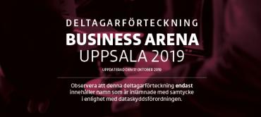 Första deltagarförteckningen för Business Arena Uppsala