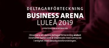 Slutgiltiga deltagarförteckningen för Business Arena Luleå