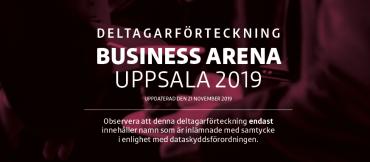 Tredje deltagarförteckningen för Business Arena Uppsala